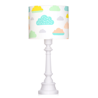Lampa stołowa Pastelowe Chmurki - elegancka, drewniana podstawa