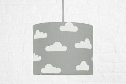lampa wisząca szara w białe obłoki