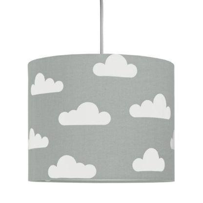 lampa wisząca szara w białe chmurki