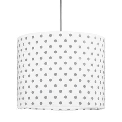 lampa wisząca biała w szare kropki
