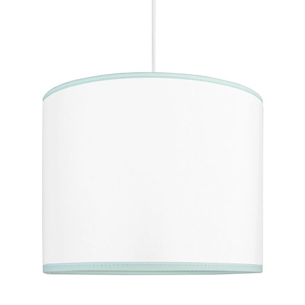 biała lampa z niebieskim lampasem