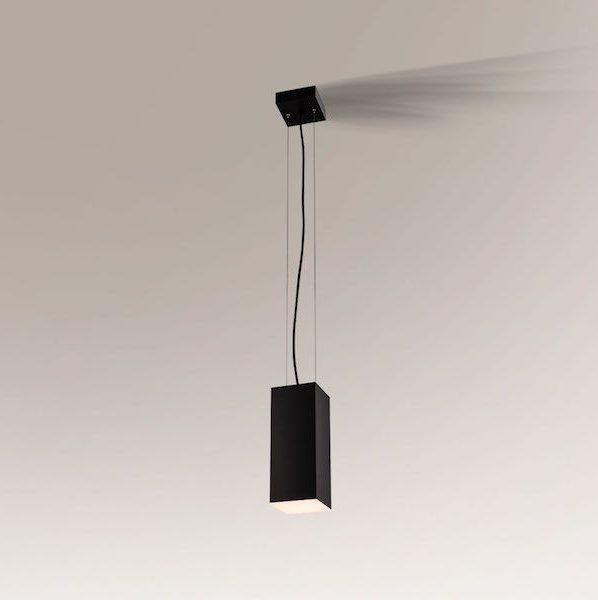 lampa wisząca z wąskim kloszem