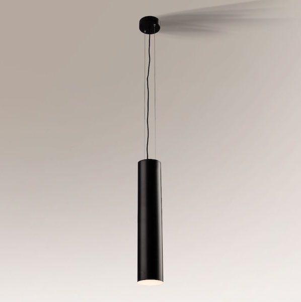 lampa wisząca z kloszem tubą
