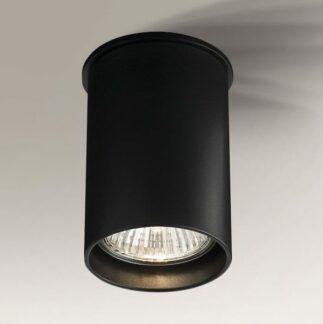 Lampa sufitowa downlight Arida - okrągła czarna