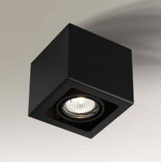 Kwadratowe oczko sufitowe Awa - czarne