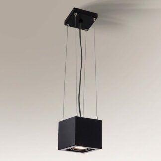 Geometryczna lampa wisząca zwis Awa - czarna