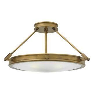 Okrągła lampa sufitowa Collier - szklany klosz, klasyczna