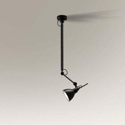 lampa wisząca na wysięgniku z regulacja klosza