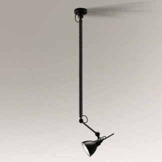 Lampa wisząca Daisen z regulacją kąta światła - czarna