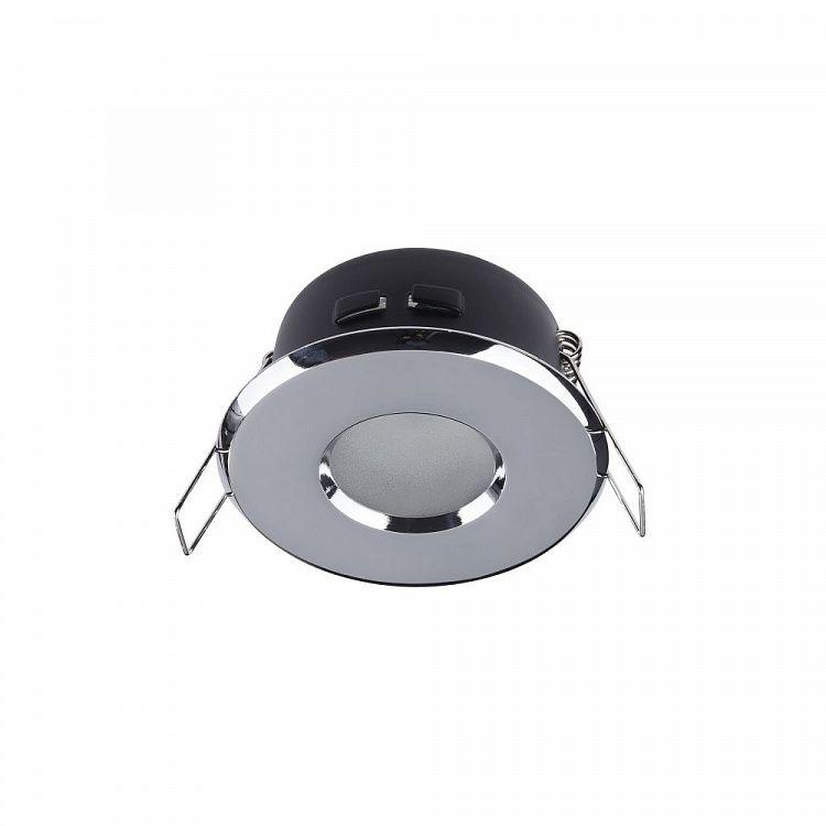 Okrągłe oczko sufitowe Modern - chrom, IP44