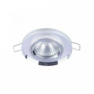 Nowoczesne oczko sufitowe Modern - okrągłe, szklane