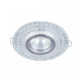 Szklane oczko sufitowe Modern - okrągłe, glamour