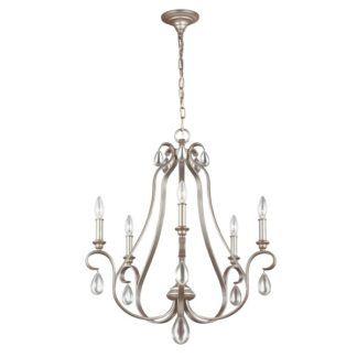 Elegancki żyrandol DeWitt - srebrny, świecznikowy