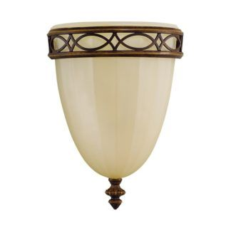 Szklana lampa ścienna Eleonor - beżowy klosz, klasyczna