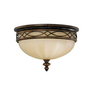 Szklany plafon Eleonor - klasyczne zdobienia, brązowy