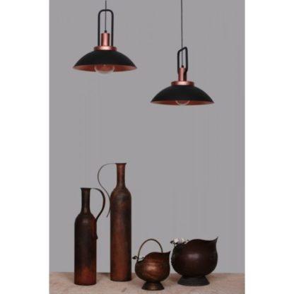 czarna lampa wisząca industrialna