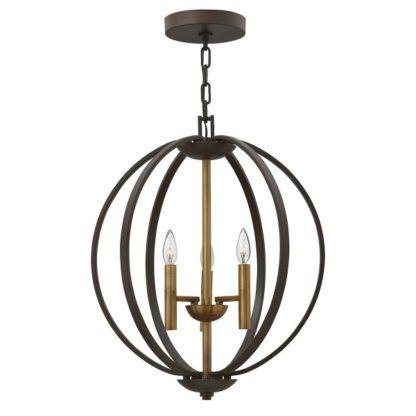 duża lampa wisząca brązowa kula