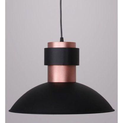 metalowa lampa wisząca czarna miedziana