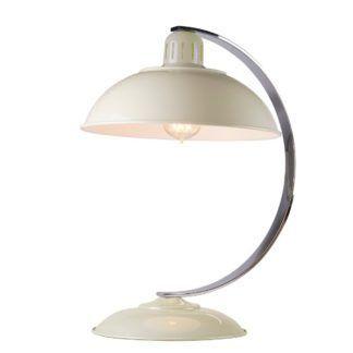 Lampa stołowa Franklin - kremowa, metalowa