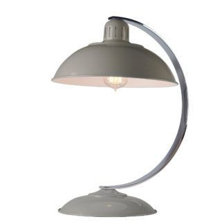 Zaokrąglona lampa stołowa Franklin - szare wykończenie