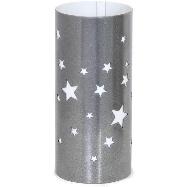 szara lampa stołowa w gwiazdki