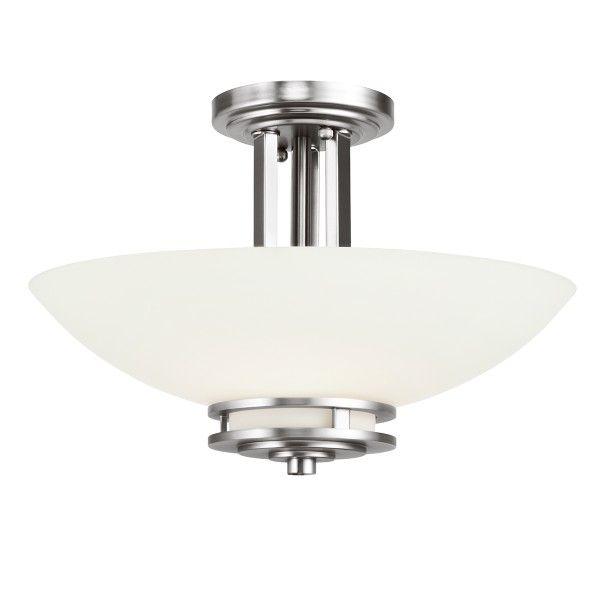 lampa sufitowa srebrna mleczny klosz