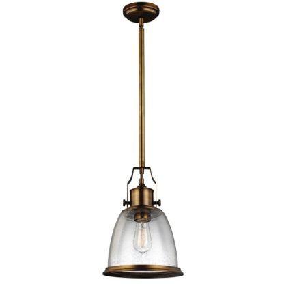 rustykalne lampy wiszące szklany klosz