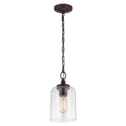 szklana lampa wisząca brązowe zawieszenie