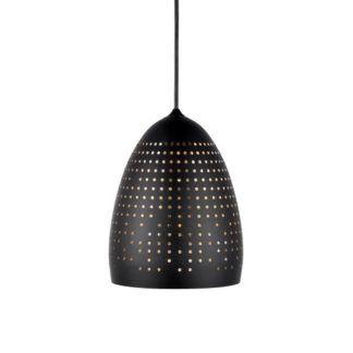 Czarna lampa wisząca Houston - Nordlux - perforowany klosz, nowoczesna