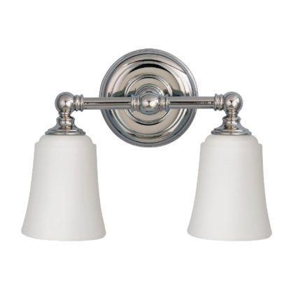 podwójny kinkiet łazienkowy białe klosze