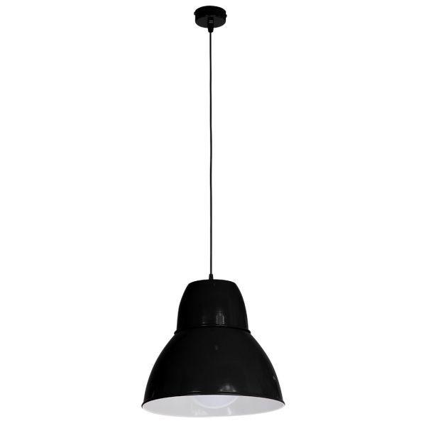 czarna lampa wisząca połysk