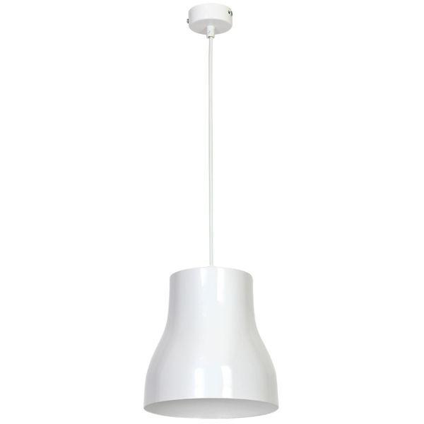 biała lampa wisząca połysk