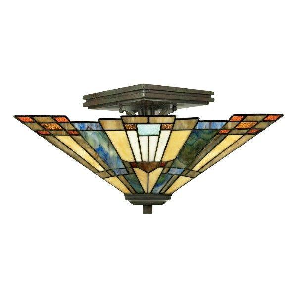 witrażowa lampa sufitowa