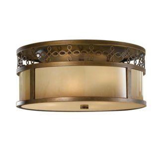 Lampa sufitowa Justine - klasyczna, odcienie brązu