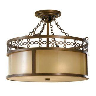 Efektowna lampa sufitowa Justine - beżowo-brązowa