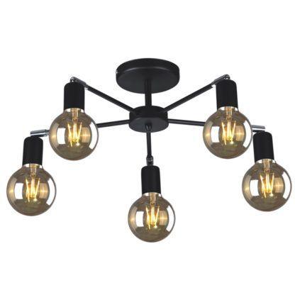 czarna lampa sufitowa industrialna