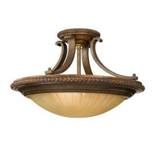 Klasyczna lampa sufitowa Kelham - odcienie brązu i beżu