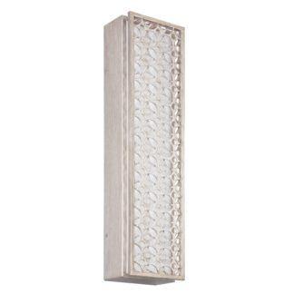 Podłużny kinkiet Kenney - srebrny, ażurowy, LED