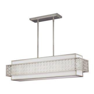 Podłużna lampa wisząca Kenney - biały abażur
