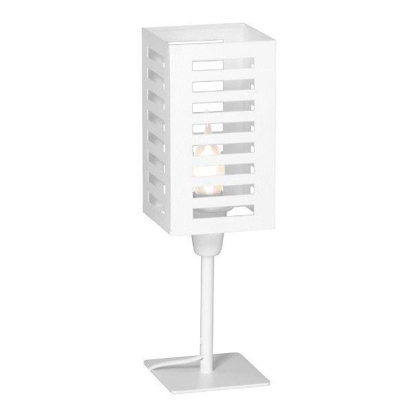 biała ażurowa lampa stołowa nowoczesna