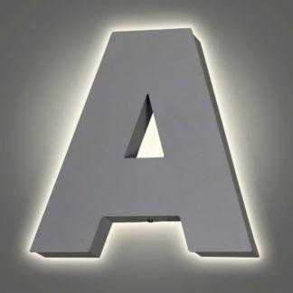 Biały kinkiet Literka A - metalowy, młodzieżowy