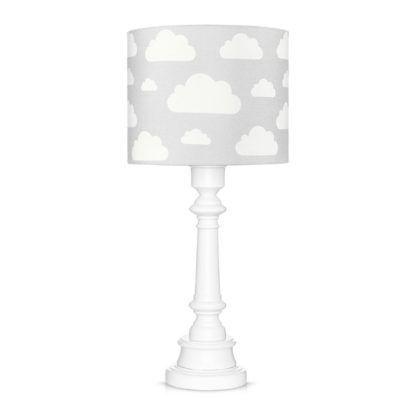 szara lampa w białe chmurki dziecięca