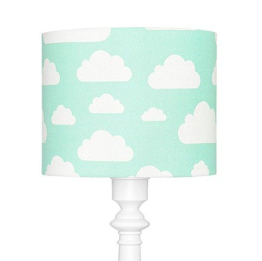 lampa podłogowa w chmurki miętowa