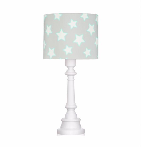 lampka z abażurem w gwiazdki