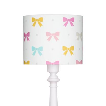 Lampa podłogowa Princess Kokardy - kolorowy abażur, biała podstawa