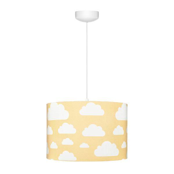 Lampa wisząca Chmurki Mustard - bawełniany abażur
