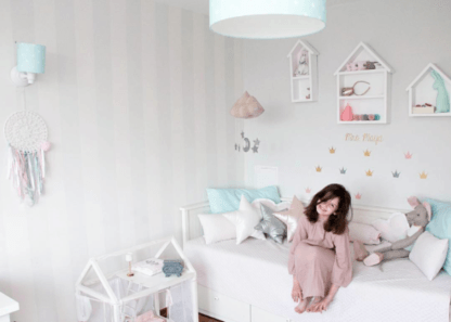 pastelowe lampy dziecięce