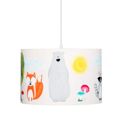 lampa wisząca dziecięca kolorowy las