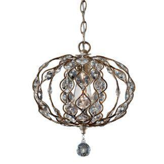 Połyskująca lampa wisząca Leila - owalny klosz z kryształkami