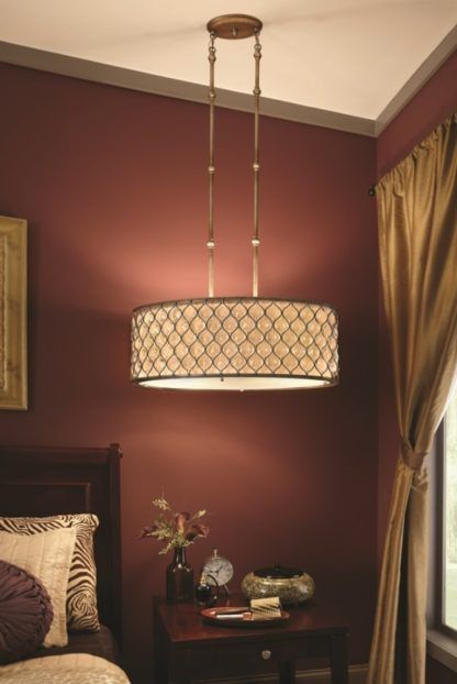 elegancka lampa wisząca z kryształami